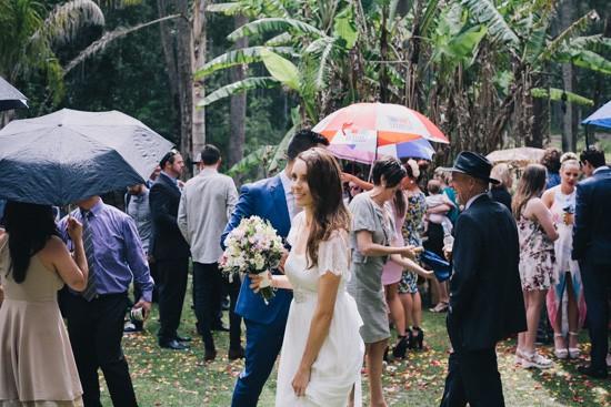 Rainy wedding moments