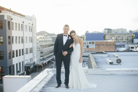 Rooftop wedding photo