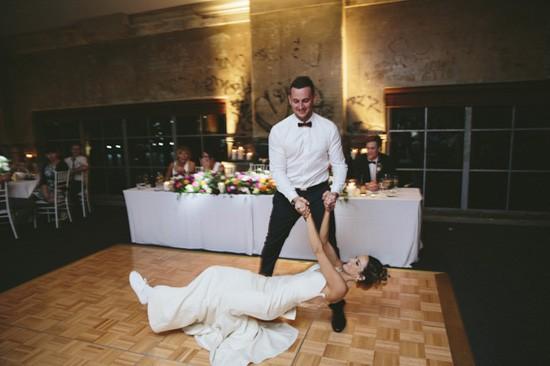 Wedding first dance dip