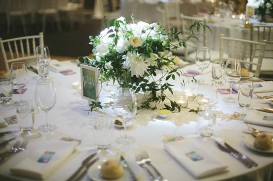 White floral wedding centrepiece