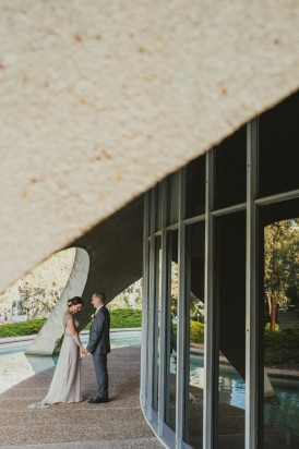 Architectural wedding photo