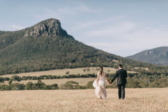 Australian wedding in the country