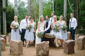 Bridal party in the yarra valley