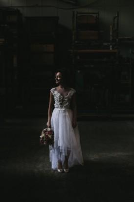 Bride wearing Carla Zampatti