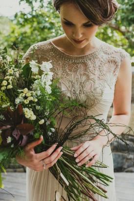 Bride wearing Gwendolynne Burkin Ophelia