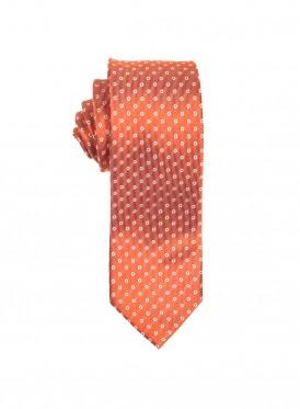 Burnt orange polka dot tie