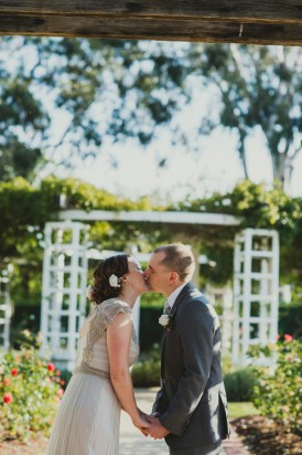 First kiss at Canberra wedding