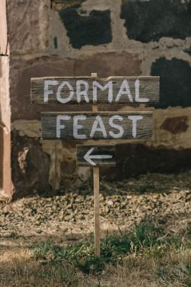 Formal Feast Wedding Sign