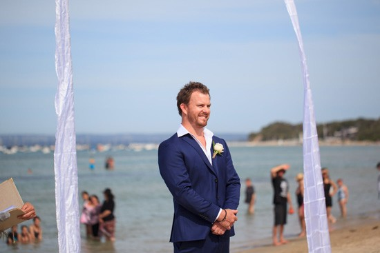Groom awaiting bride