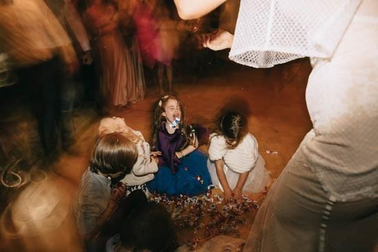 Kids with pinata at wedding