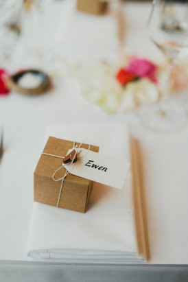 Kraft box wedding favor