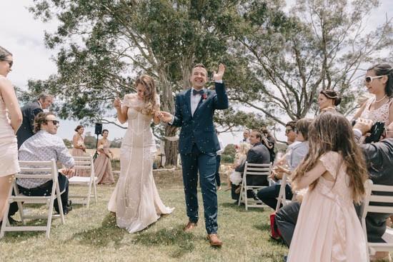 Newlyweds at Country Australia wedding