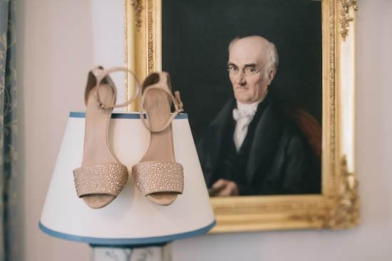 Nude wedding sandals