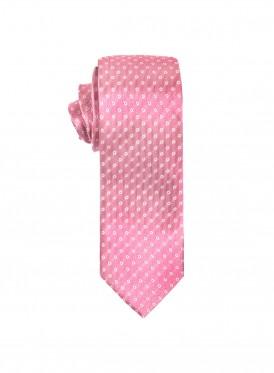 Pink polka dot tie