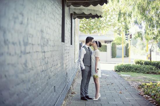Sixties style wedding dress