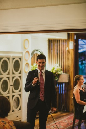 Speeches at Restaurant wedding