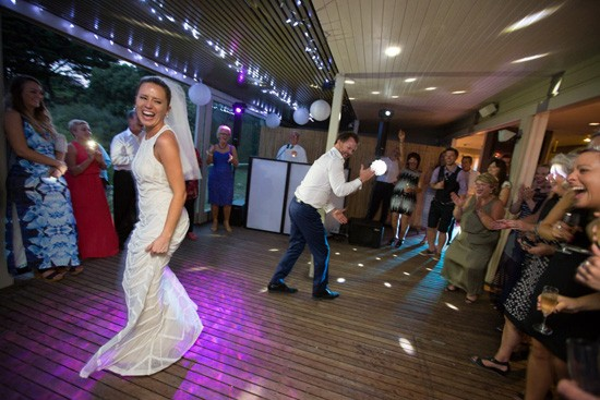 Wedding dancing at The Baths Sorrento