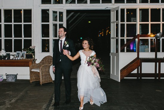 Wedding entrance at Laurens Hall
