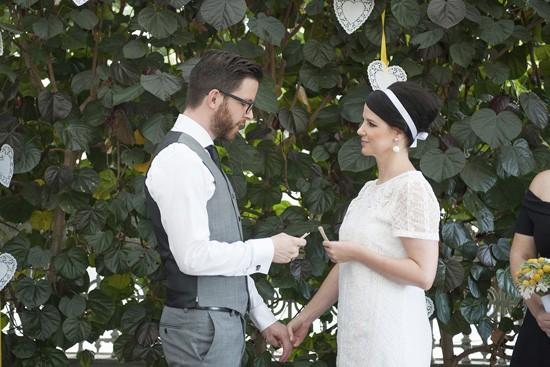 Wedding in courtyard