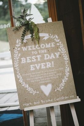 Welcome to the best day ever sign