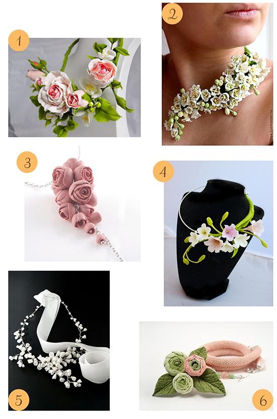 Porcelain Flower Necklaces