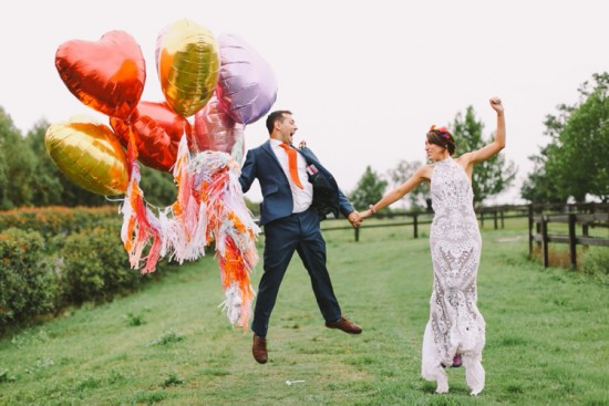 Colourful Polo Barn Wedding