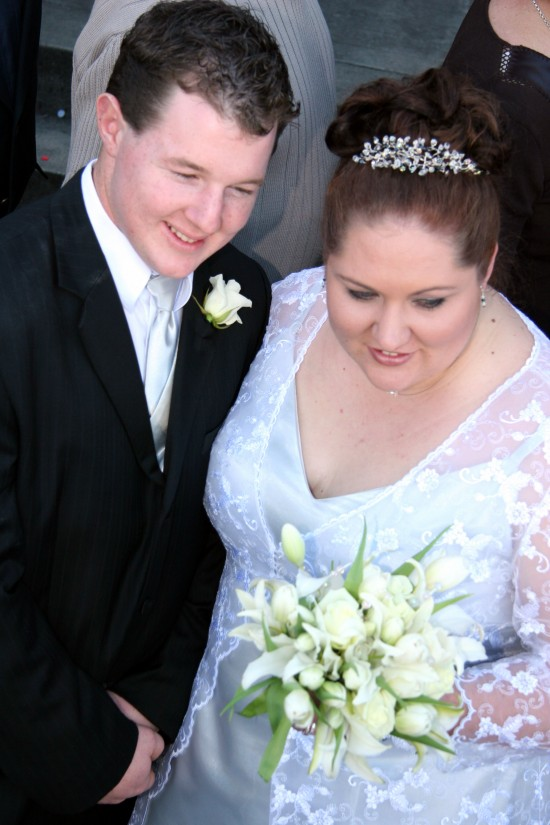 melissa wedding day