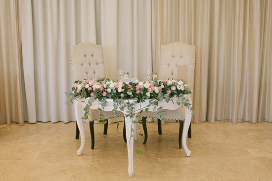 Chic Rustique Wedding Styling Signing Table