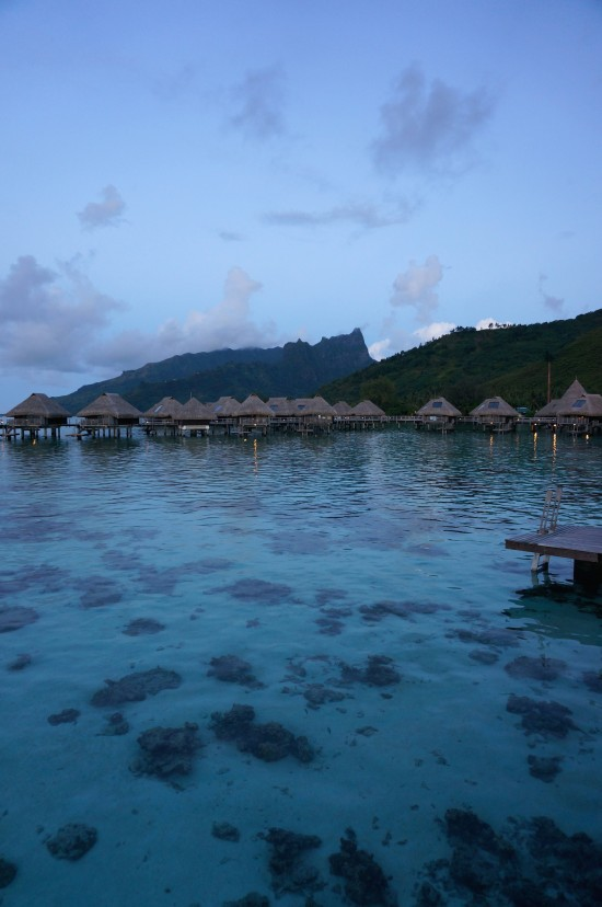 Hilton overwater bungalows
