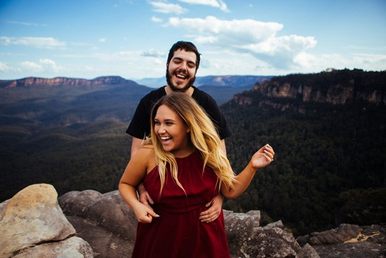 Quirky Blue Mountains Engagement046