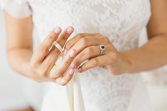 Coloured Diamond Engagement Ring