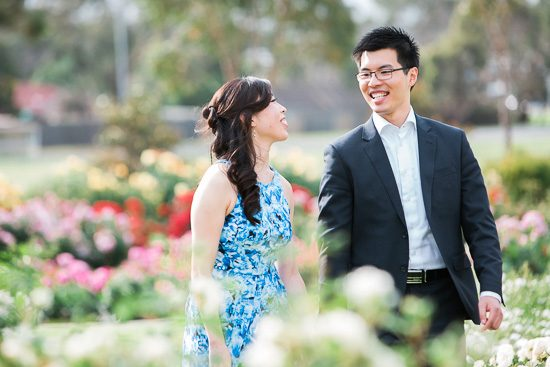 Mornington Rose Garden Engagement Shoot
