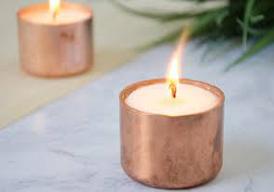 copper tealights