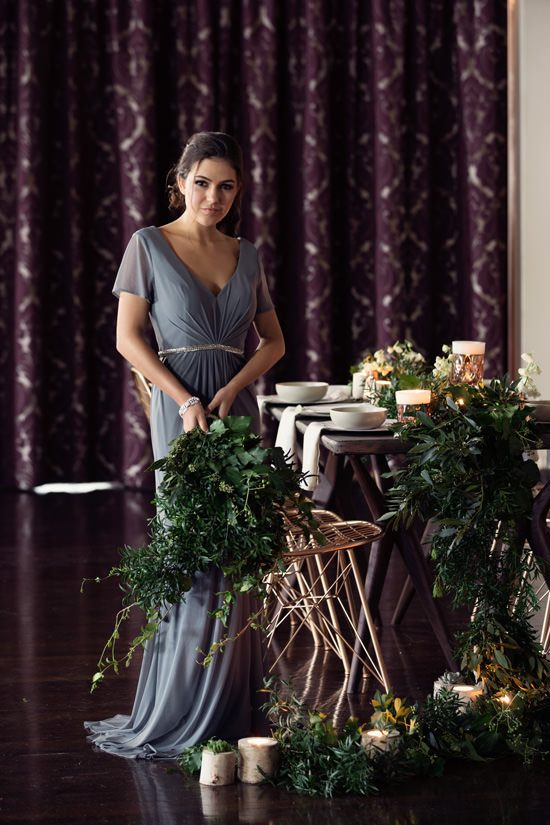 Modern Greenery With Jewel Tones Bridesmaid Inspiration034