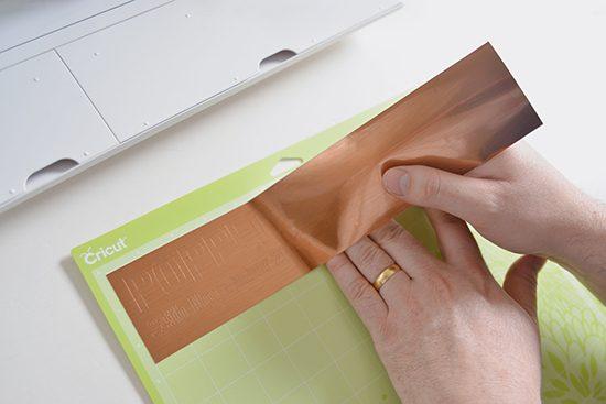 Cricut copper foil wedding projects