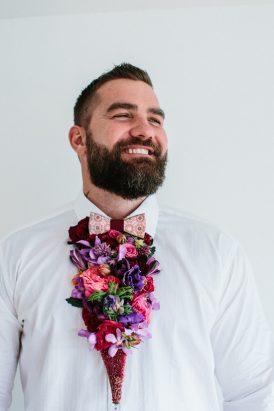 Dapper Fresh Flower Groom Style032