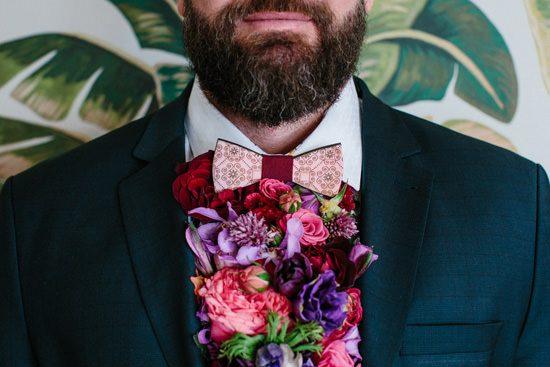 Dapper Fresh Flower Groom Style041