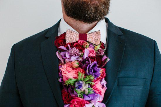 Dapper Fresh Flower Groom Style053