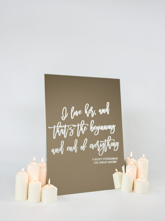 F Scott Fitzgerald Wedding Sign