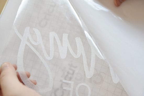 Faux etched mirror sign