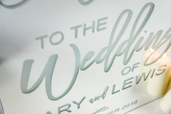 How to make an etched wedding sign