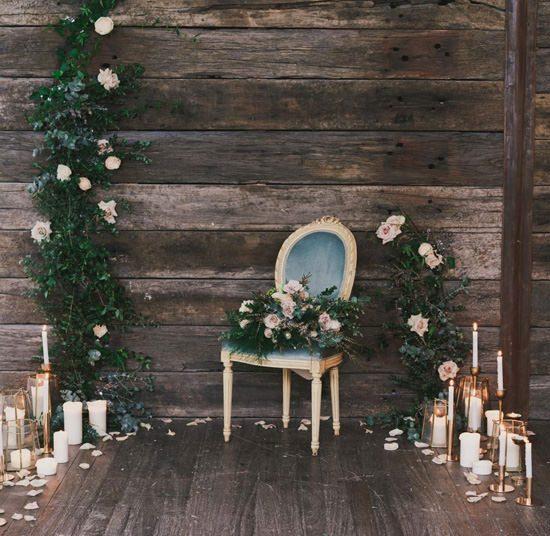 Indoor Rustic Chic Wedding Ideas062