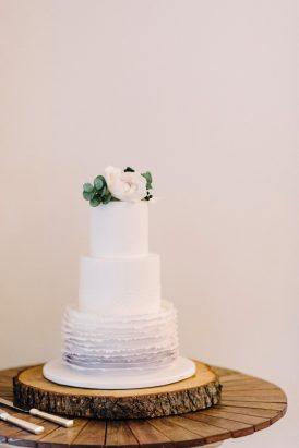 Ombre Grey Wedding Cake - Polka Dot Bride