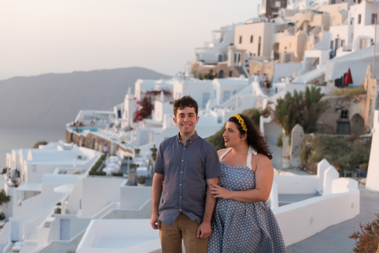 David and Tess' Romantic 'Surprise' Santorini Proposal