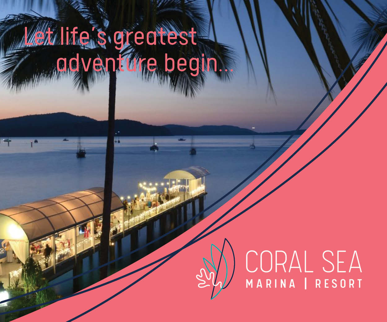 Coral Sea Marina Resort Grande Honeymoons banner