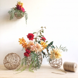 Rainy Sunday String Ball Vases