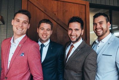 Image by Christopher Robert. Via Vic and Ryan's relaxed Trofeo Estate wedding