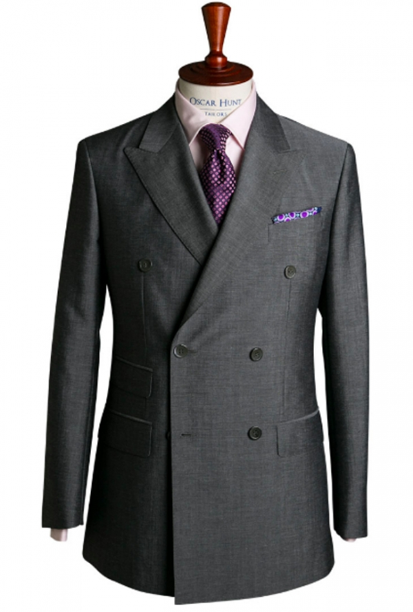 Oscar Hunt Grey Mohair suit. Image: Oscar Hunt