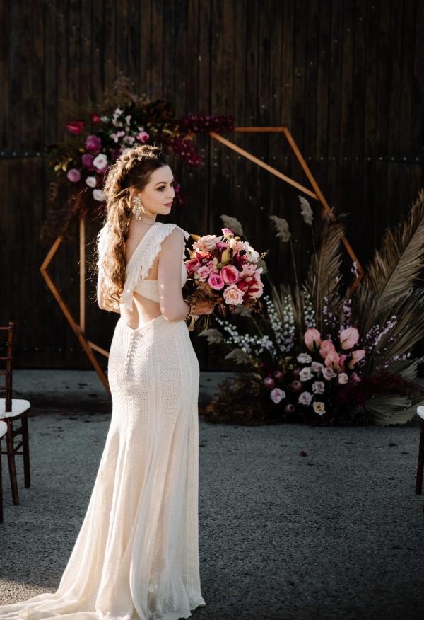 Dramatic Boho Wedding Ideas With Pink Polka Dot Bride,Wedding Plus Size Dresses