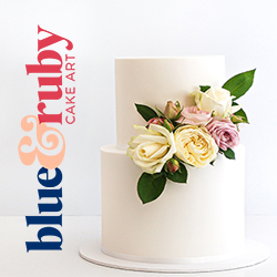 blue & ruby cake art Made banner